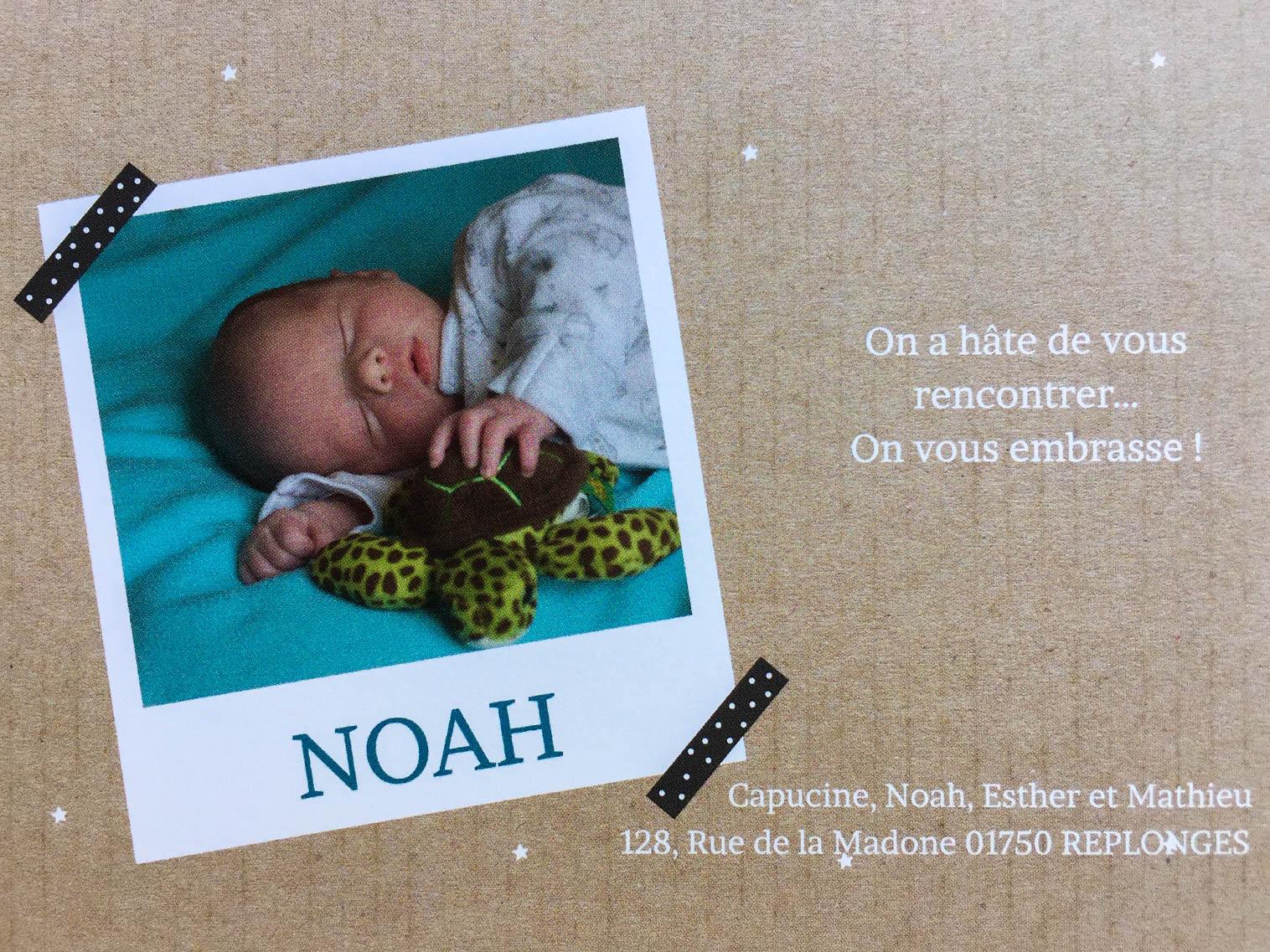 Naissance de Noah !
