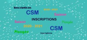 SAISON 2020-2021 – INSCRIPTIONS